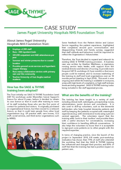 James Paget University Hospital case study image