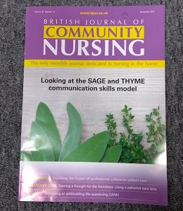Br J Community Nursing front cover