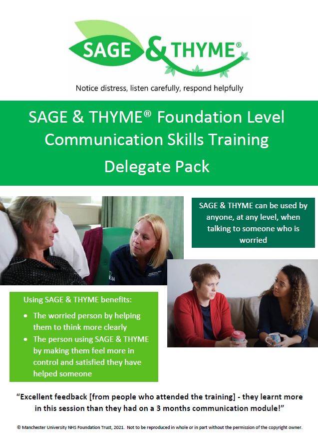 Image of SAGE and THYME training digital pack